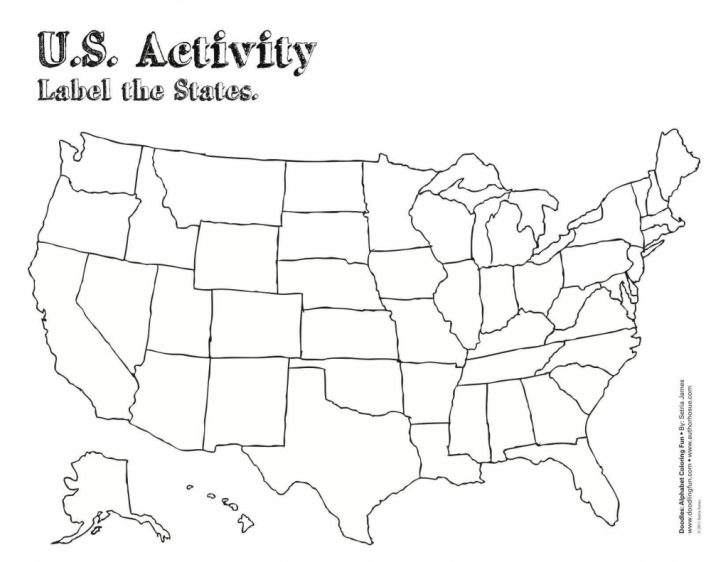 Blank States And Capitals Map Printable