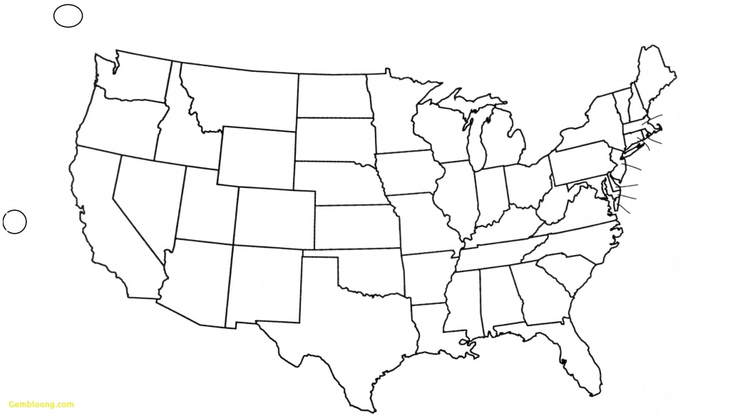 Blank Us Map Pdf - Blank Us Map Printable Pdf