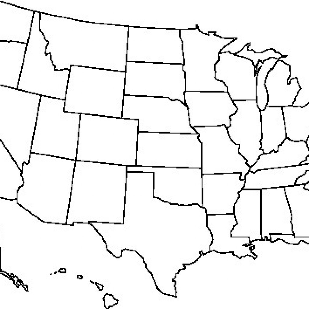 Blank Usa Map Free Outline Of Us United States Pdf At - Printable Usa Map Outline