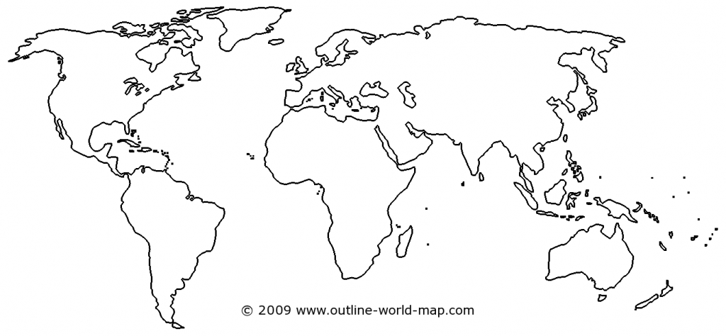 Blank World Map Image With White Areas And Thick Borders - B3C | Ecc - World Map Test Printable