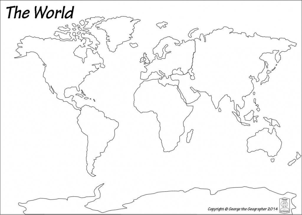 Blank World Map Pdf #3   Art Class   World Map Continents, Blank - World Ocean Map Printable