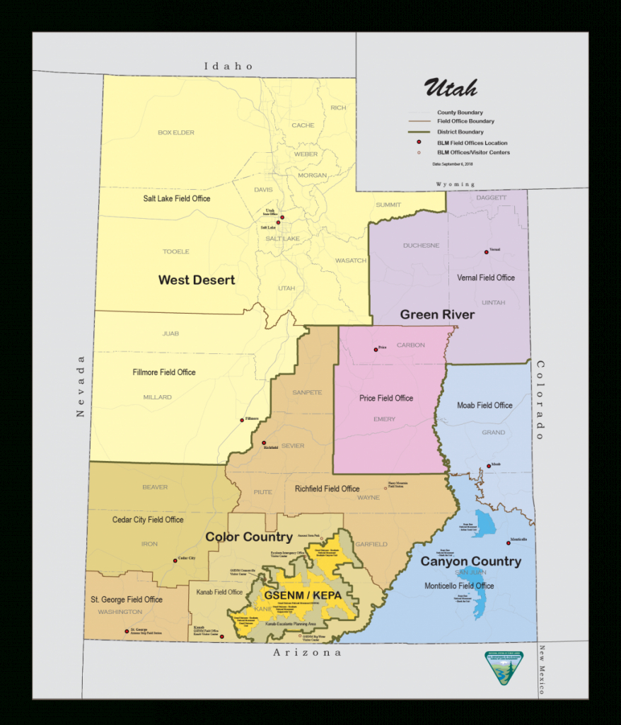 Blm Utah Map | Fysiotherapieamstelstreek - Blm Land Florida Map