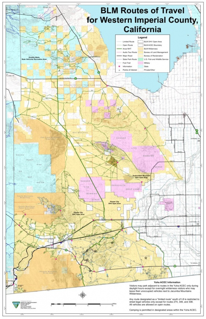 Blm - Western Imperial County Route Map - Blm - California - Avenza Maps - Blm Map California