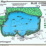 Blue Cypress Bass Map - Mark Evans Maps - Florida Fishing Lakes Map