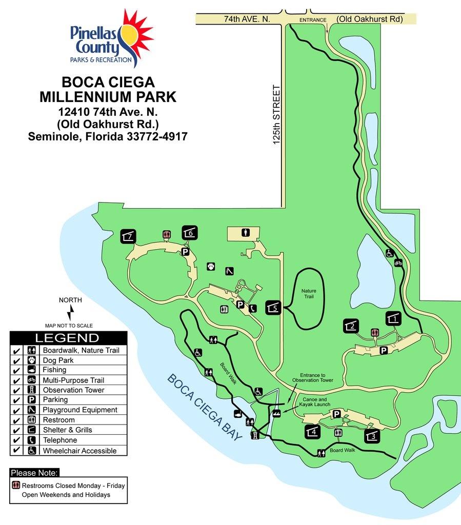 Boca Ciega Millennium Park - Maplets - Seminole Florida Map