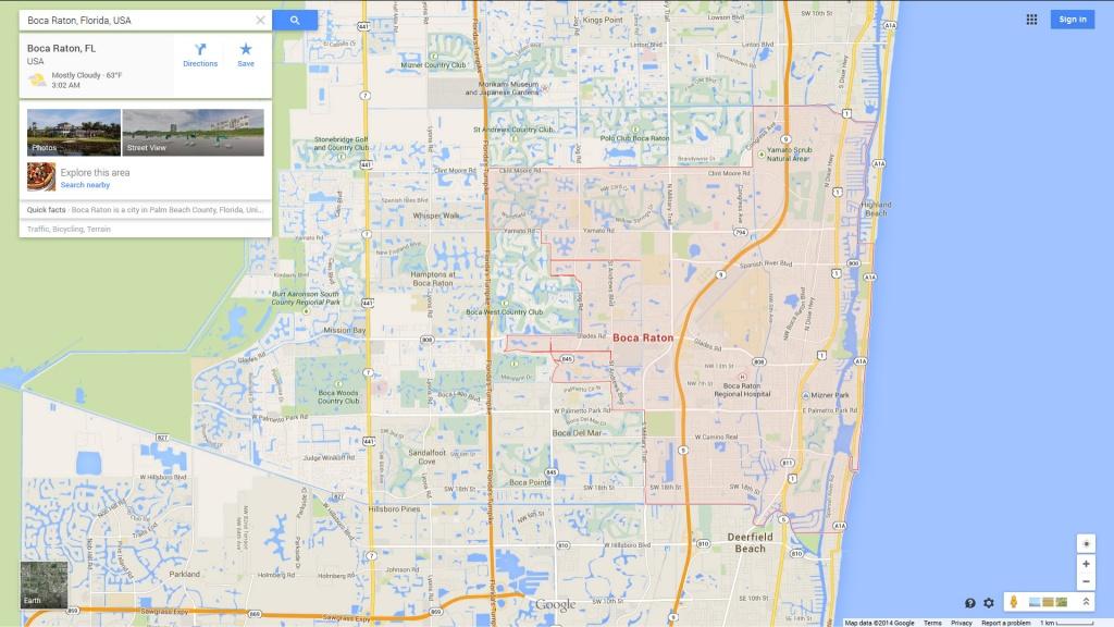 Boca Raton, Florida Map - Boca Delray Florida Map