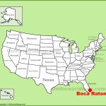 Boca Raton Map Of Florida And Travel Information | Download Free   Map Of Florida Including Boca Raton