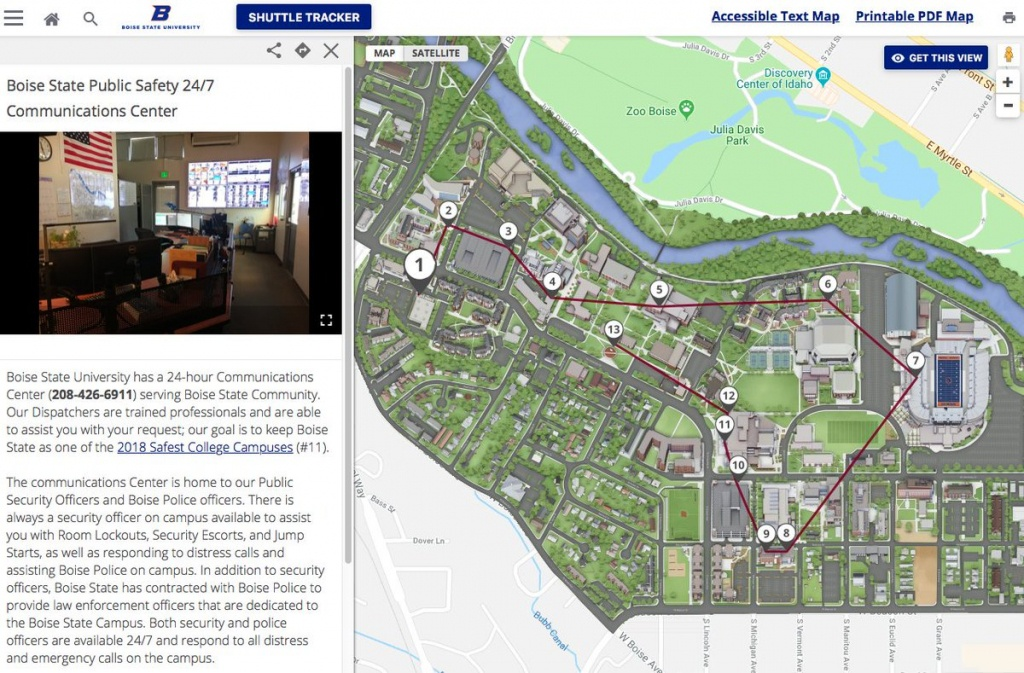 """Boise State Public Safety On Twitter: """"did You Know Our #boisestate - Boise State University Printable Campus Map"""