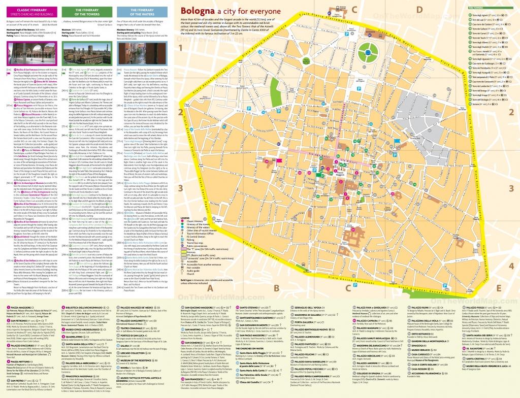 Bologna City Centre Map - Bologna Tourist Map Printable
