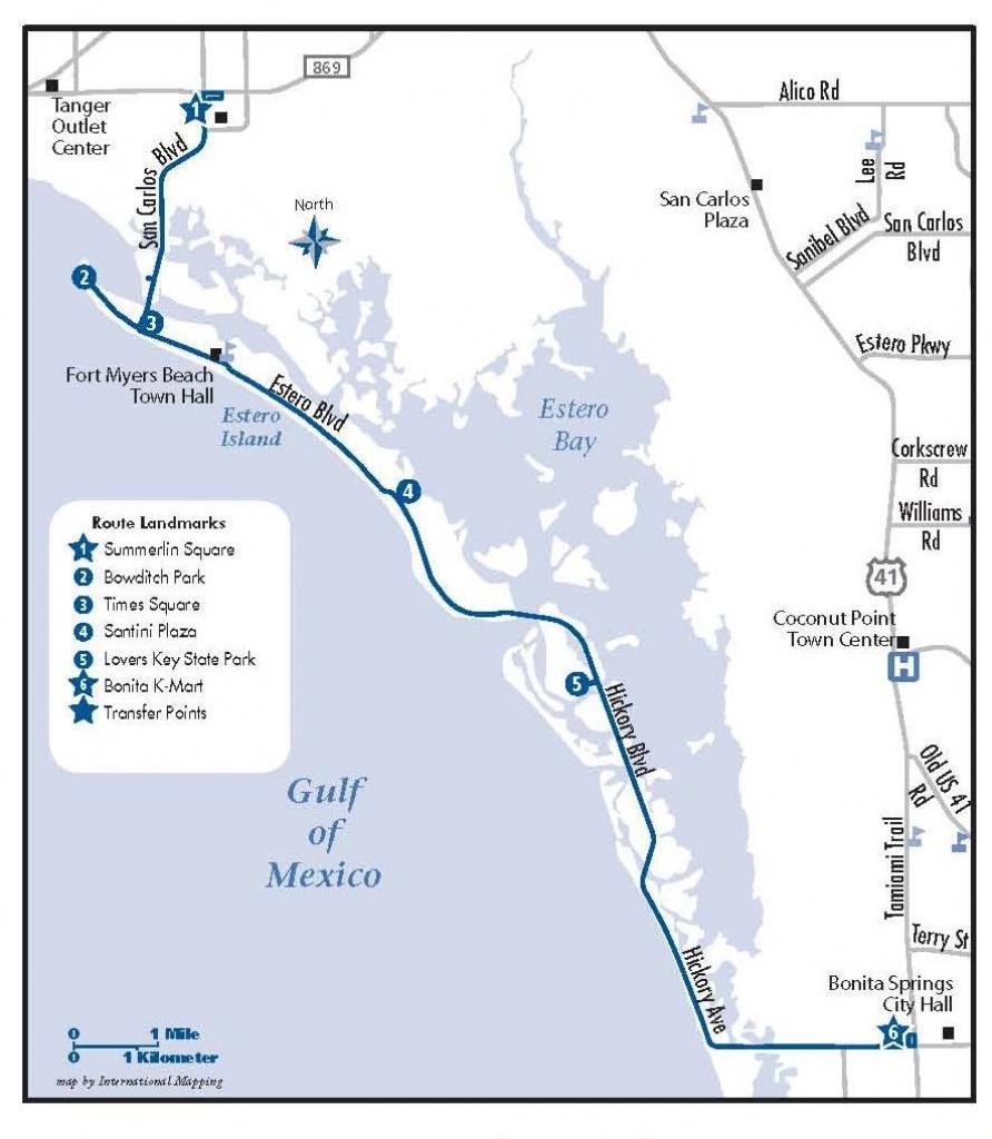Bonita Springs | Bonita Beach Trollee | Trolley To Fort Myers Beach - Bonita Beach Florida Map