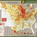 Boone & Crockett And Pope & Young Distribution Map 1996 2005   Mule Deer Population Map Texas