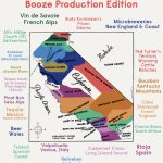 Booze Production Edition: The 1927 Paramount Map Of Southern   California Beer Map