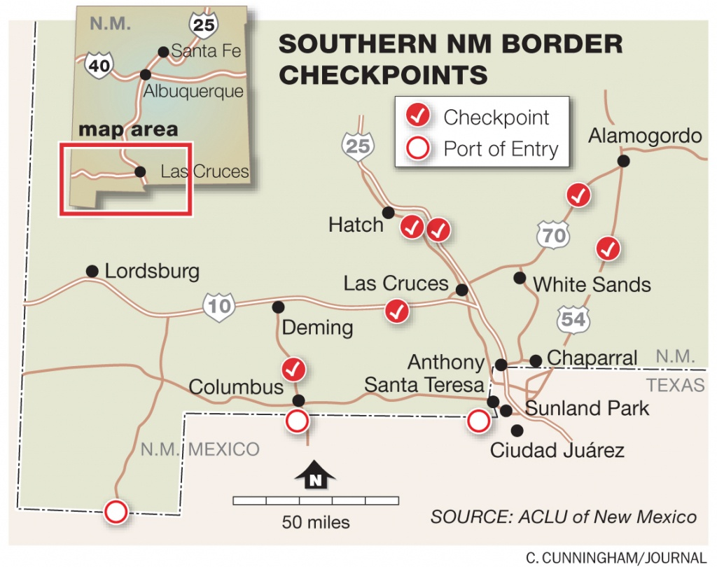 Border Patrol Checkpoints New Mexico Map | Woestenhoeve - Border Patrol Checkpoints Map Texas
