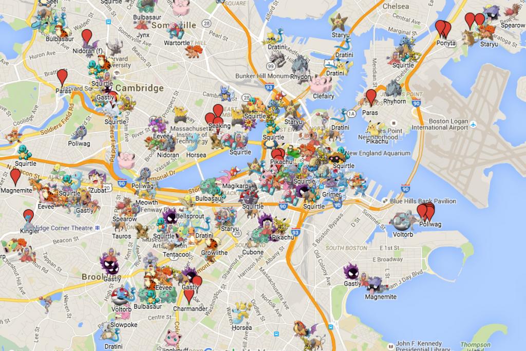 Boston Has An Absurdly Detailed Pokémon Go Map - Polygon - Florida Pokemon Go Map