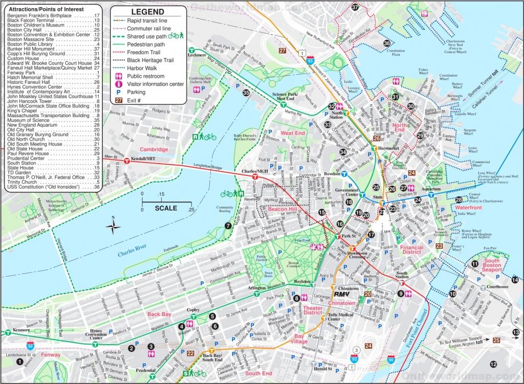 Boston Tourist Map - Boston Tourist Map Printable
