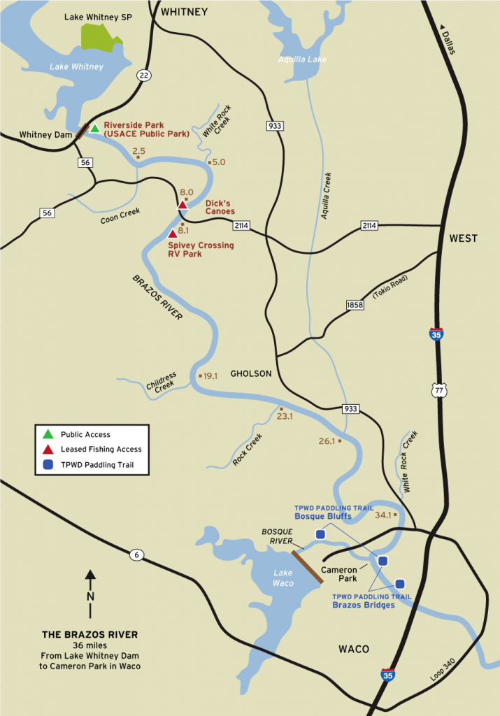 Brazos River Fishing - Texas Fishing Maps