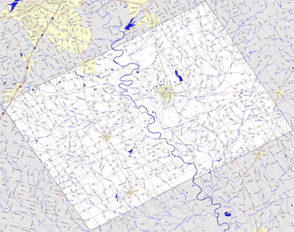 Bridgehunter | Falls County, Texas - Falls County Texas Map
