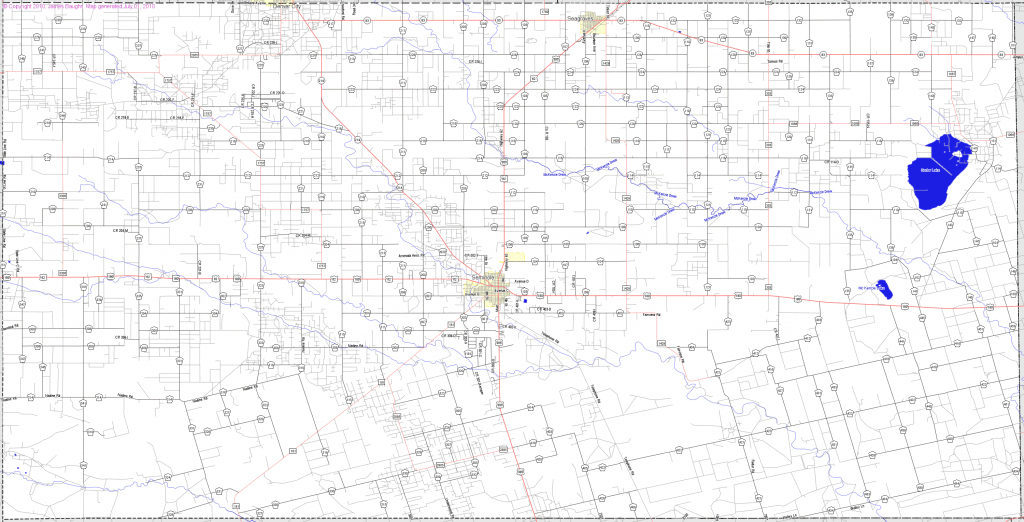 Bridgehunter | Gaines County, Texas - Gaines County Texas Section Map