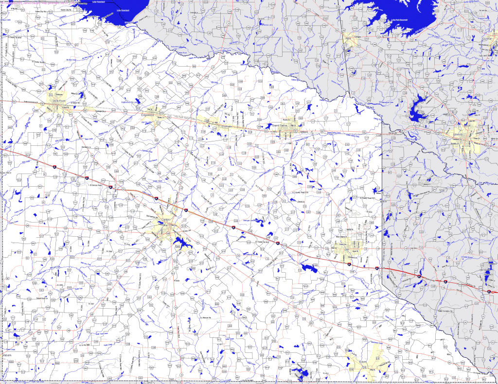 Bridgehunter | Van Zandt County, Texas - Van Zandt County Texas Map