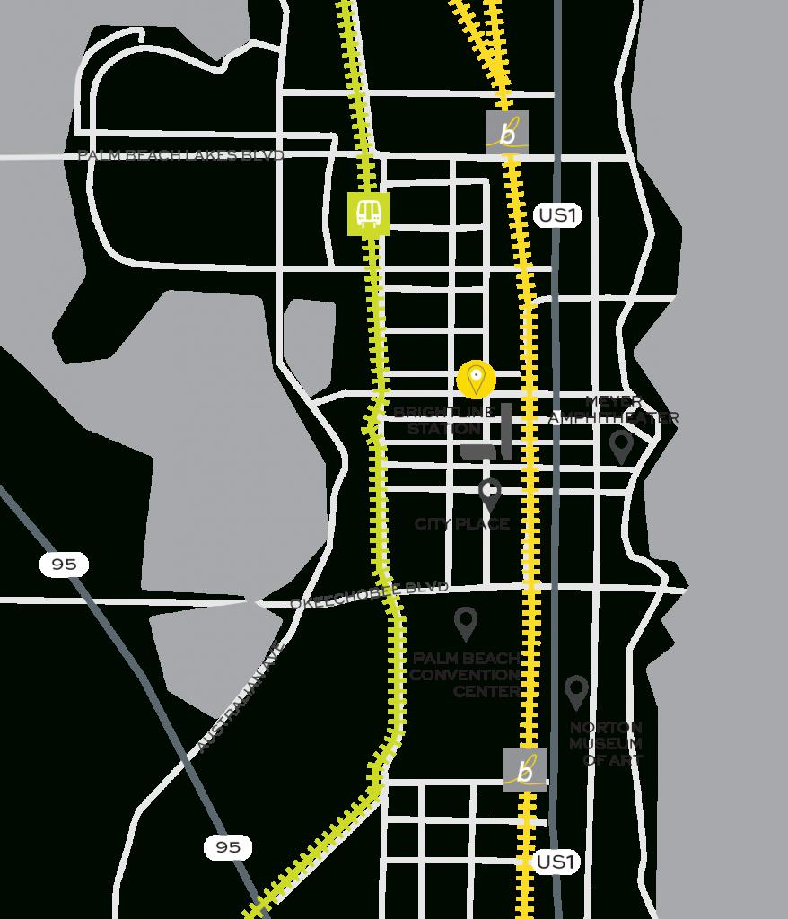 Brightline Train   Rosemary Square - Brightline Florida Map