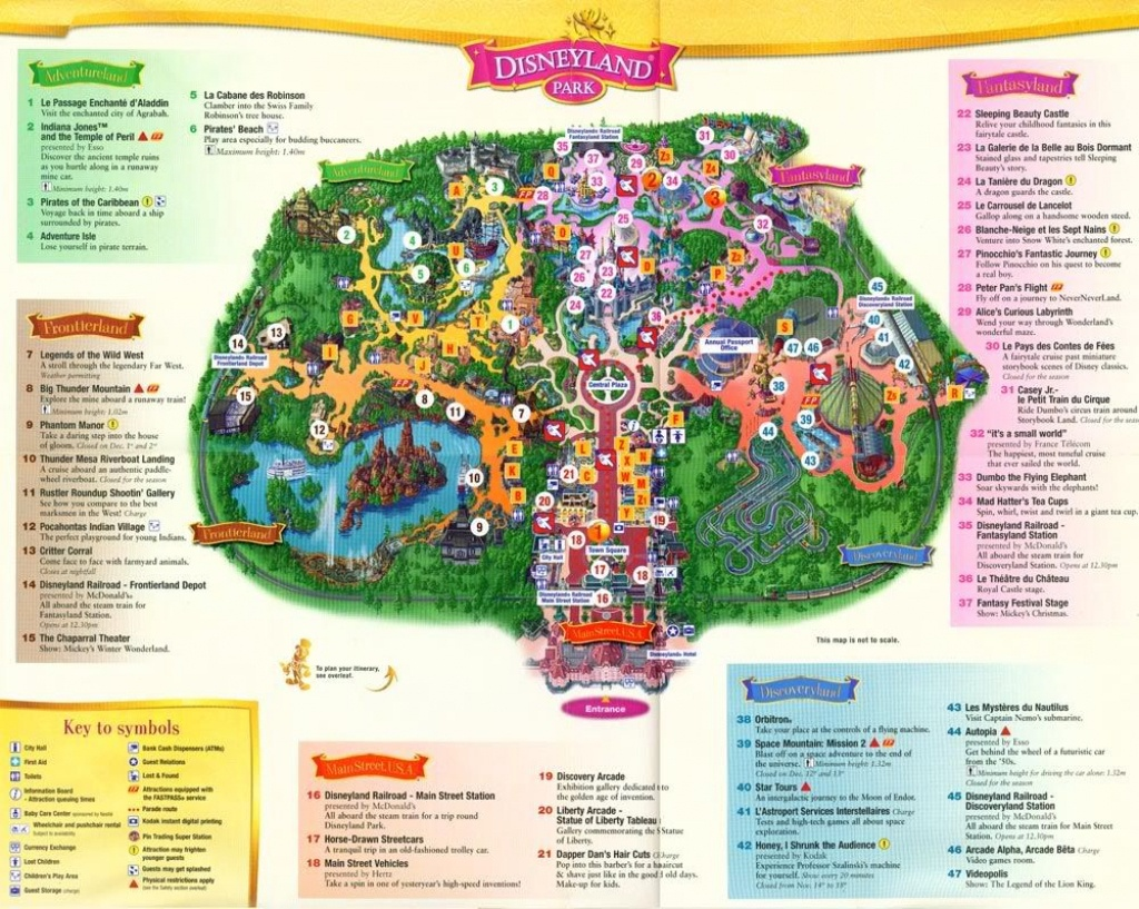 Brilliant Disneyland Paris Hotel Map 2015 With Regard To Inspire - Disneyland Paris Map Printable