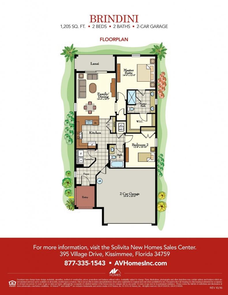 Brindini Floor Plan At Solivita In Kissimmee, Fl - Taylor Morrison - Solivita Florida Map