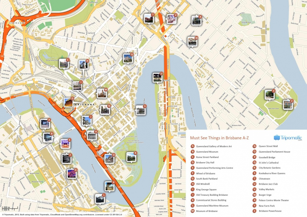 Brisbane Cbd Map - Map Of Brisbane Cbd (Australia) - Brisbane City Map Printable