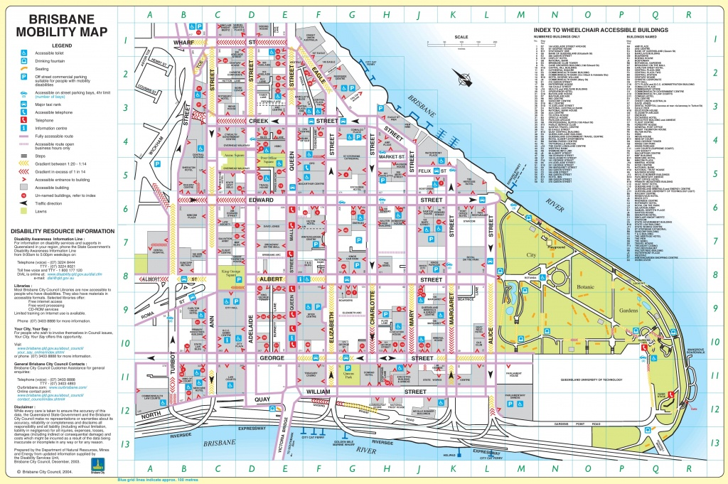 Brisbane City Center Map - Printable Map Of Brisbane