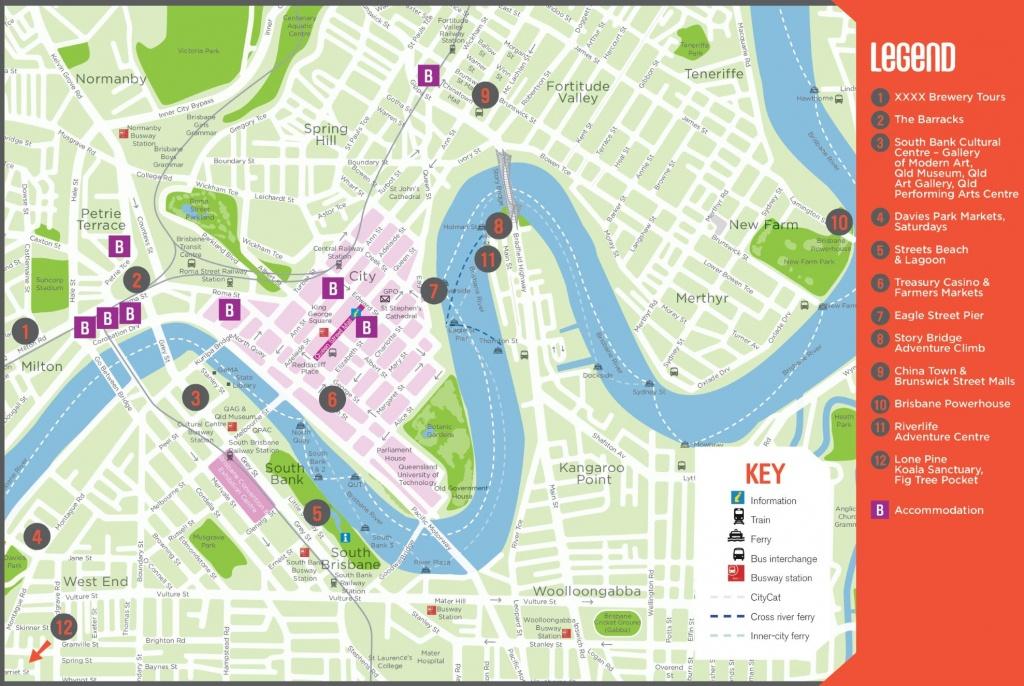 Brisbane Maps   Australia   Maps Of Brisbane - Brisbane City Map Printable