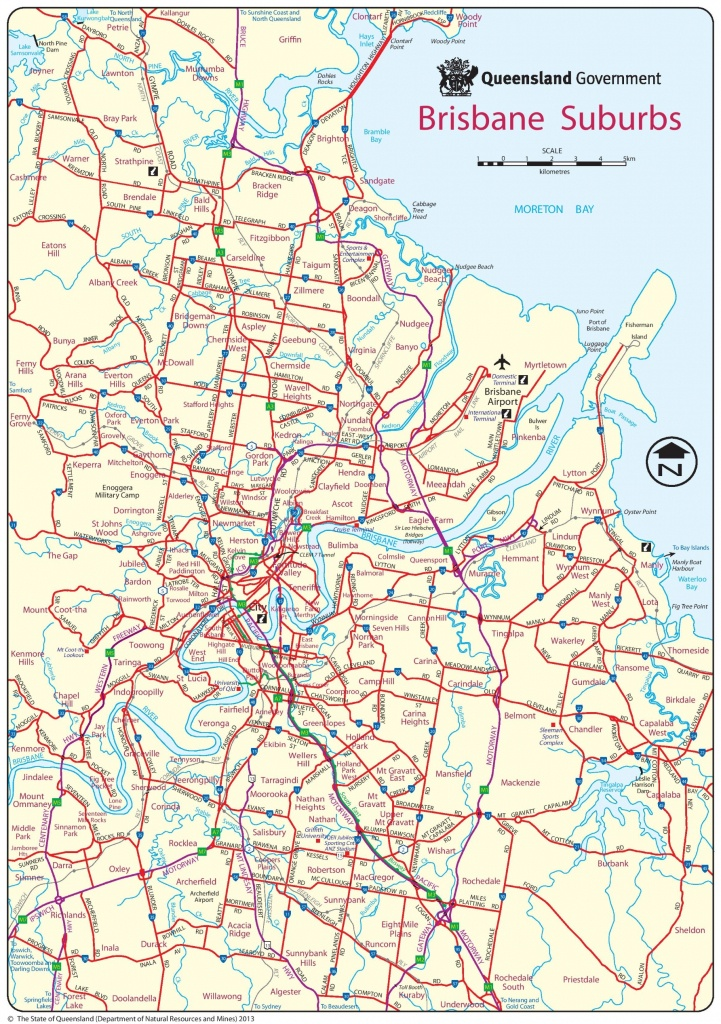 Brisbane Suburbs Map - Brisbane Cbd Map Printable