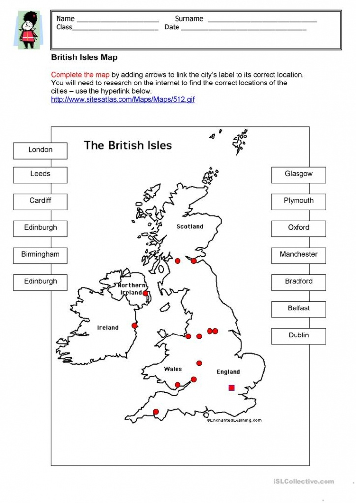 British Isles Map Worksheet - Free Esl Printable Worksheets Made - Free Printable Map Activities