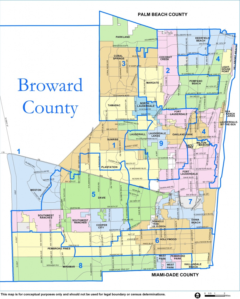 Broward County Map - Check Out The Counties Of Broward - Pembroke Pines Florida Map