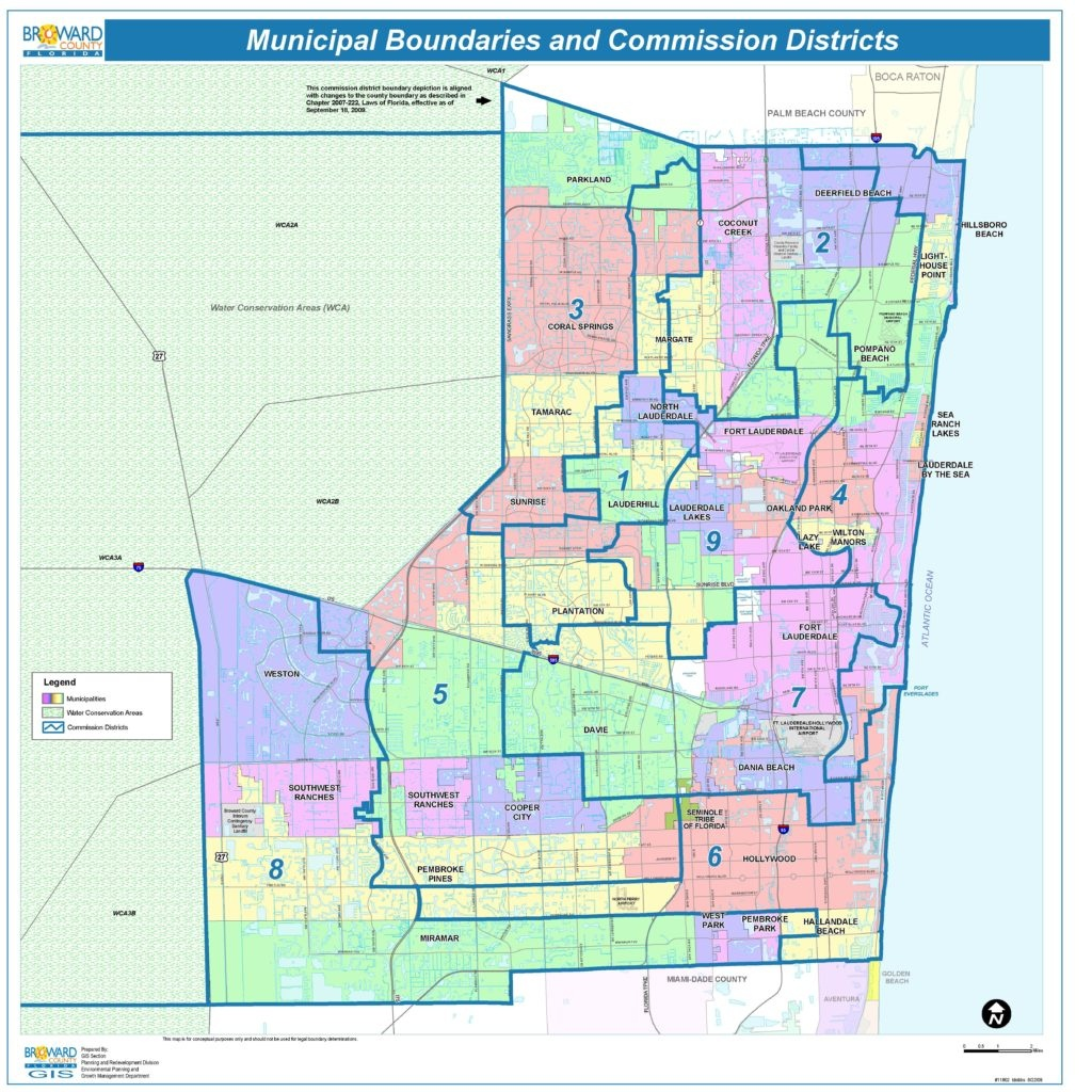 Broward County Map - Check Out The Counties Of Broward - Sunrise Beach Florida Map
