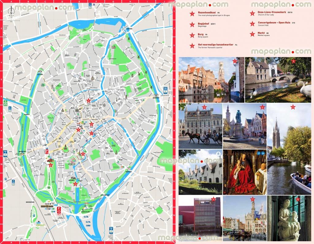 Bruges Map - Bruges City Centre Free Printable Travel Guide Download - Bruges Tourist Map Printable