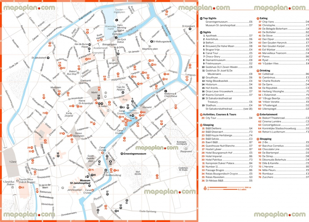 Bruges Tourist Map And Travel Information | Download Free Bruges - Bruges Tourist Map Printable