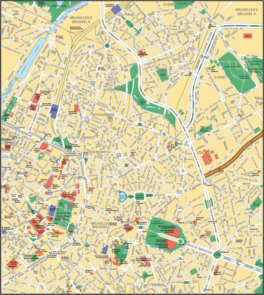 Brussels Map - Detailed City And Metro Maps Of Brussels For Download - Printable Map Of Brussels