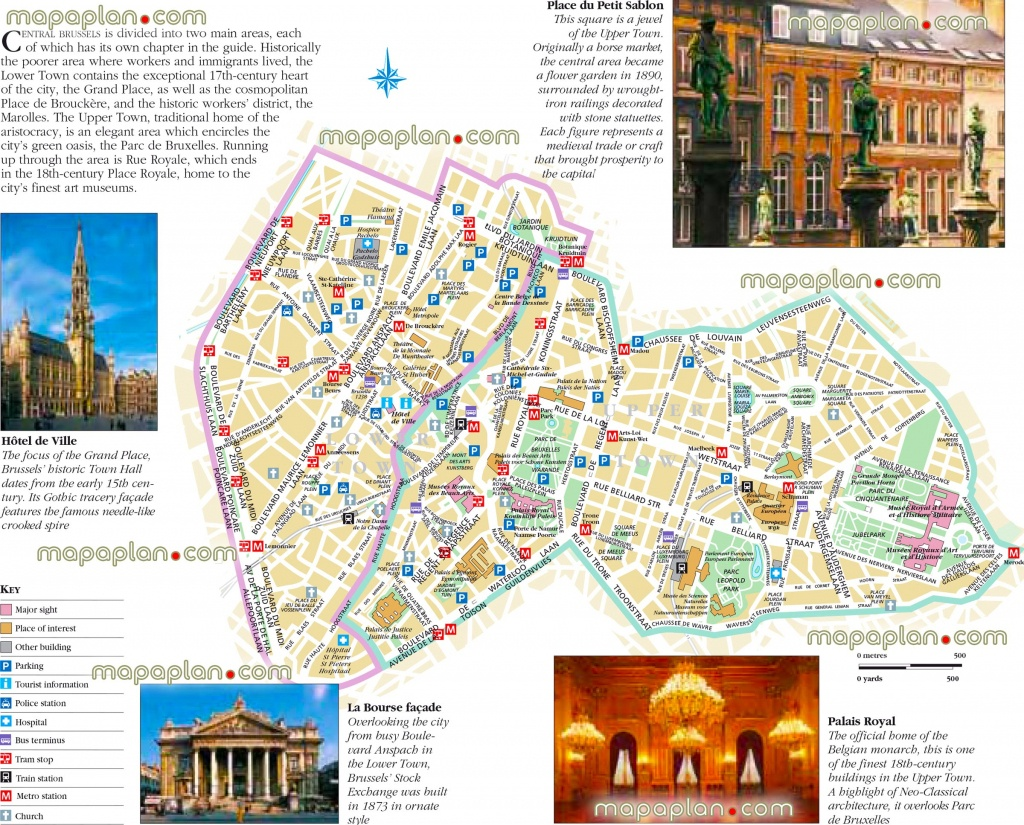 Brussels Maps - Top Tourist Attractions - Free, Printable City - Tourist Map Of Brussels Printable