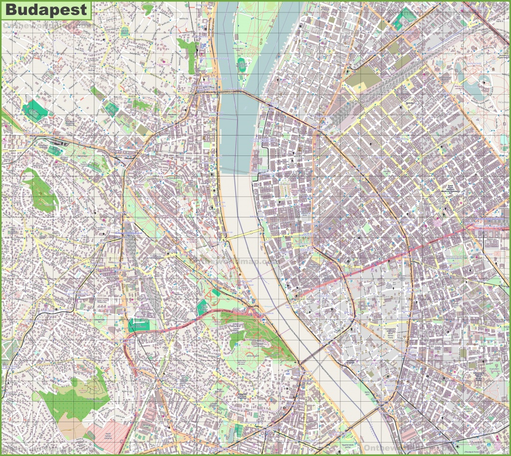 Budapest Street Map - Budapest Street Map Printable