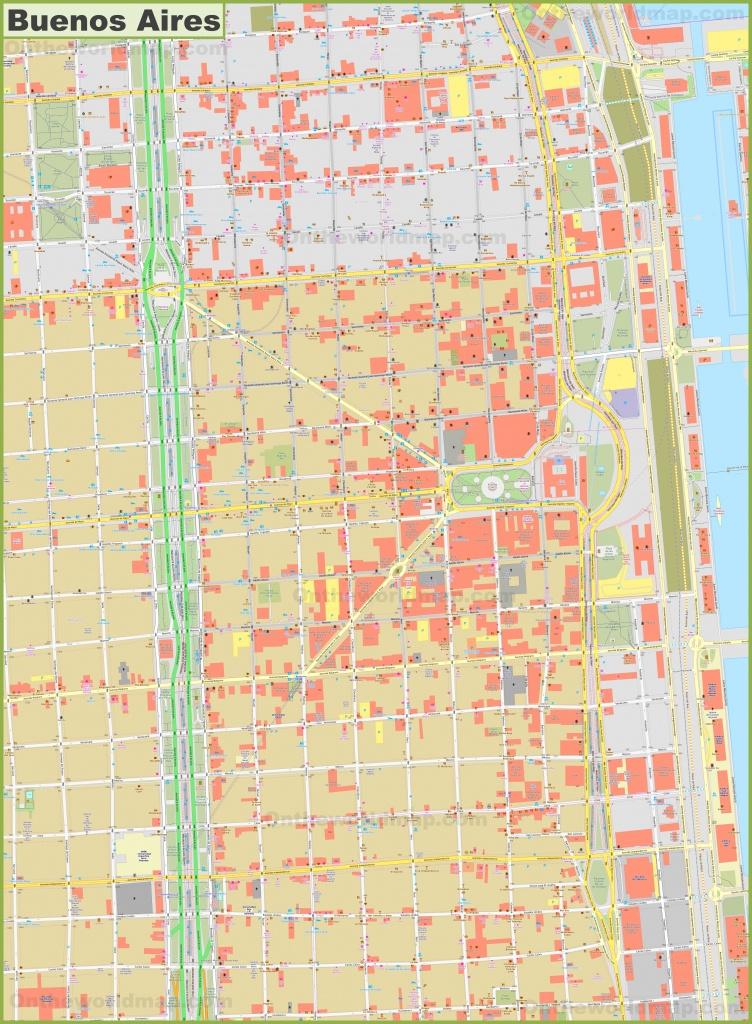 Buenos Aires City Center Map - Florida Street Buenos Aires Map