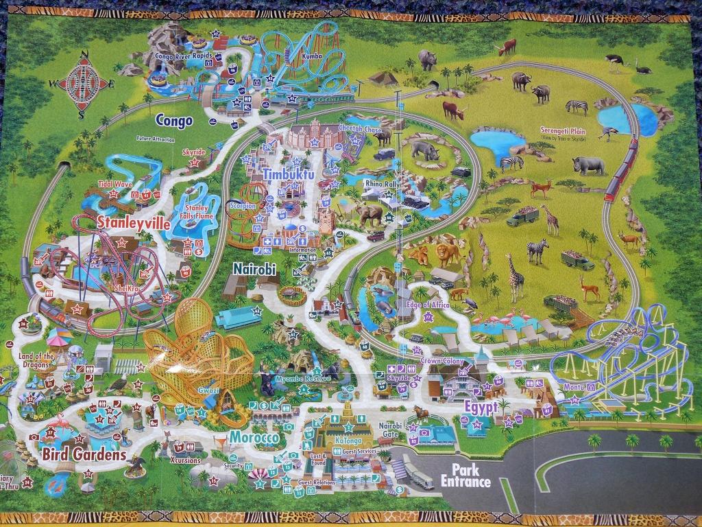 Busch Gardens Africa Map - 10001 N Mckinley Drive Tampa Fl 33612 - Busch Gardens Florida Map