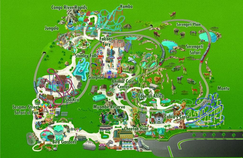 Busch Gardens | Seaworld Parks And Entertainment - Bush Garden Florida Map