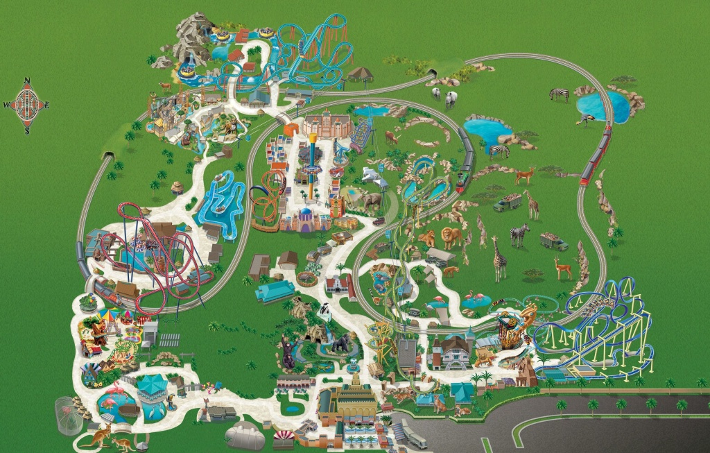 Busch Gardens Tampa Bay Park Map May 2017 | Places In 2019 | Busch - Busch Gardens Florida Map