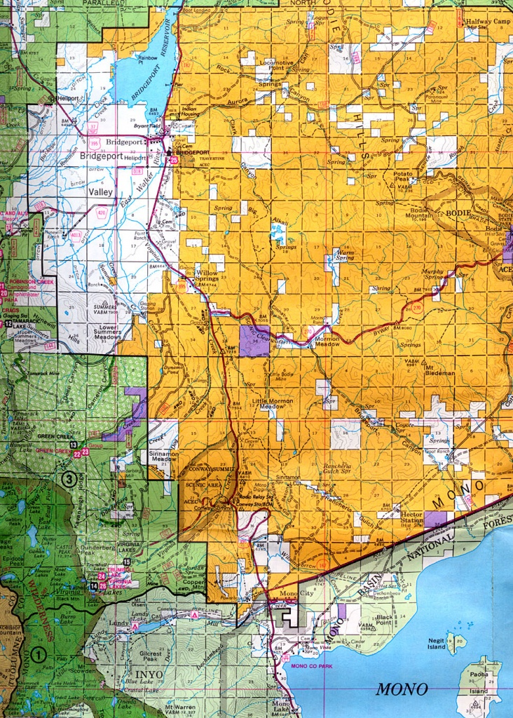 Buy And Find California Maps: Bureau Of Land Management: Northern - California Public Lands Map