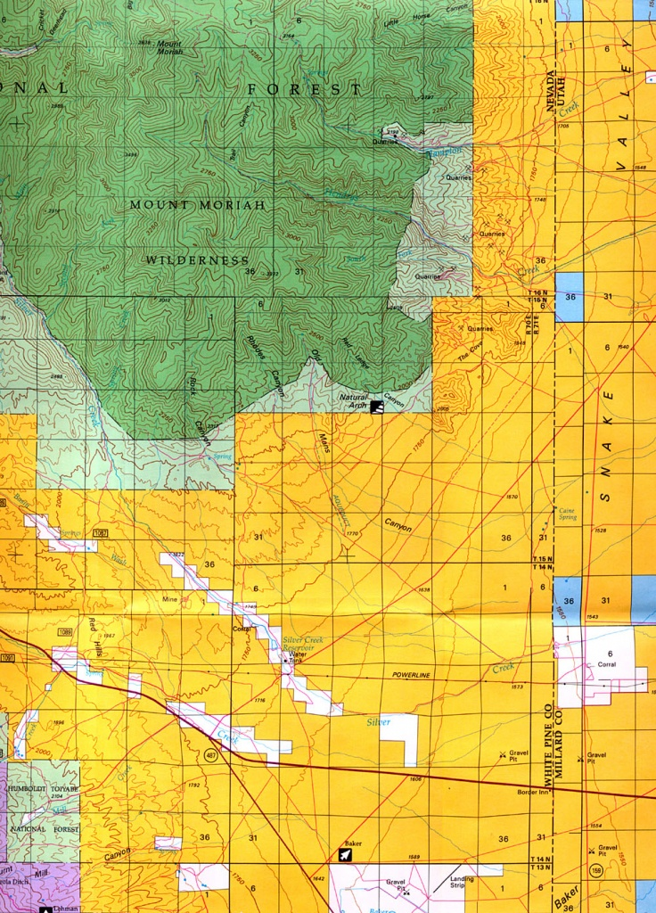 Buy And Find Nevada Maps: Bureau Of Land Management: Statewide Index - Blm Maps Southern California