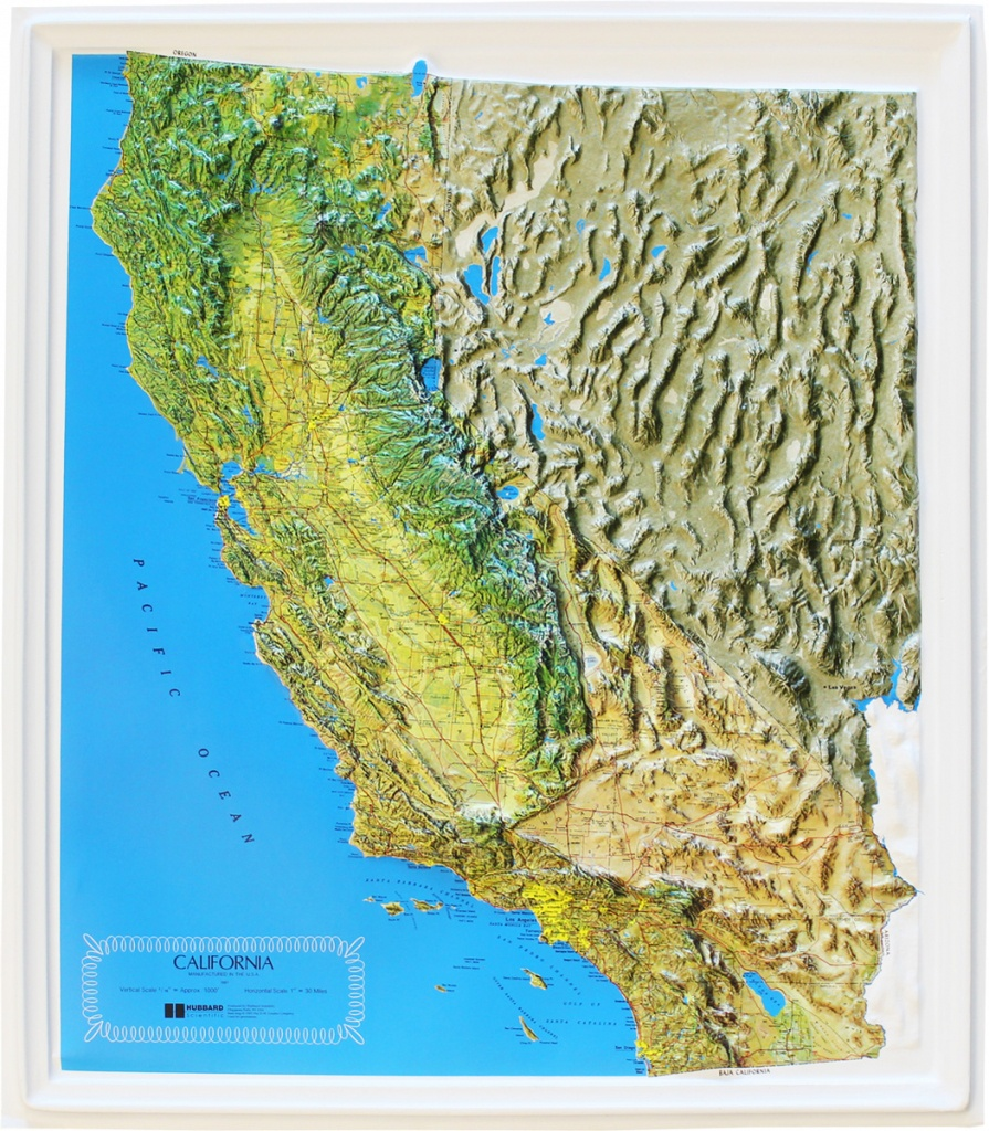 Buy California Relief Map | Flagline - Buy Map Of California