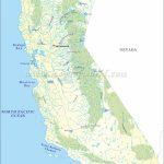 Buy California River Map - California Rivers Map