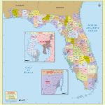Buy Florida Zip Code With Counties Map - Florida Zip Code Map
