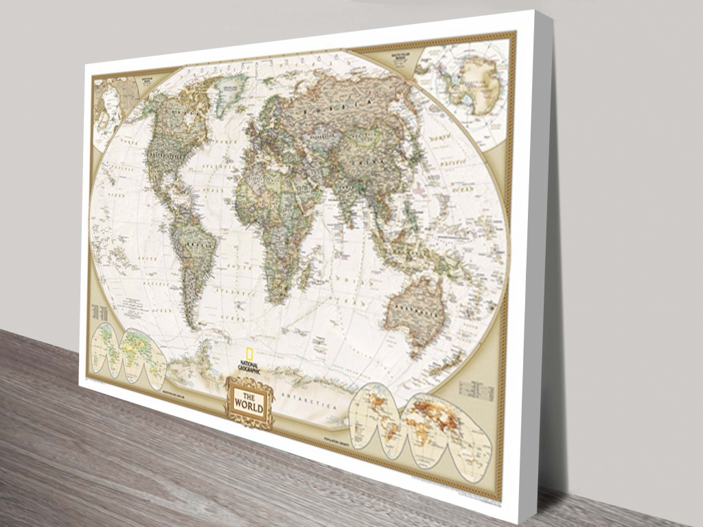 Buy National Geographic World Map Wall Arr Aldgate Adelaide Australia - National Geographic World Map Printable