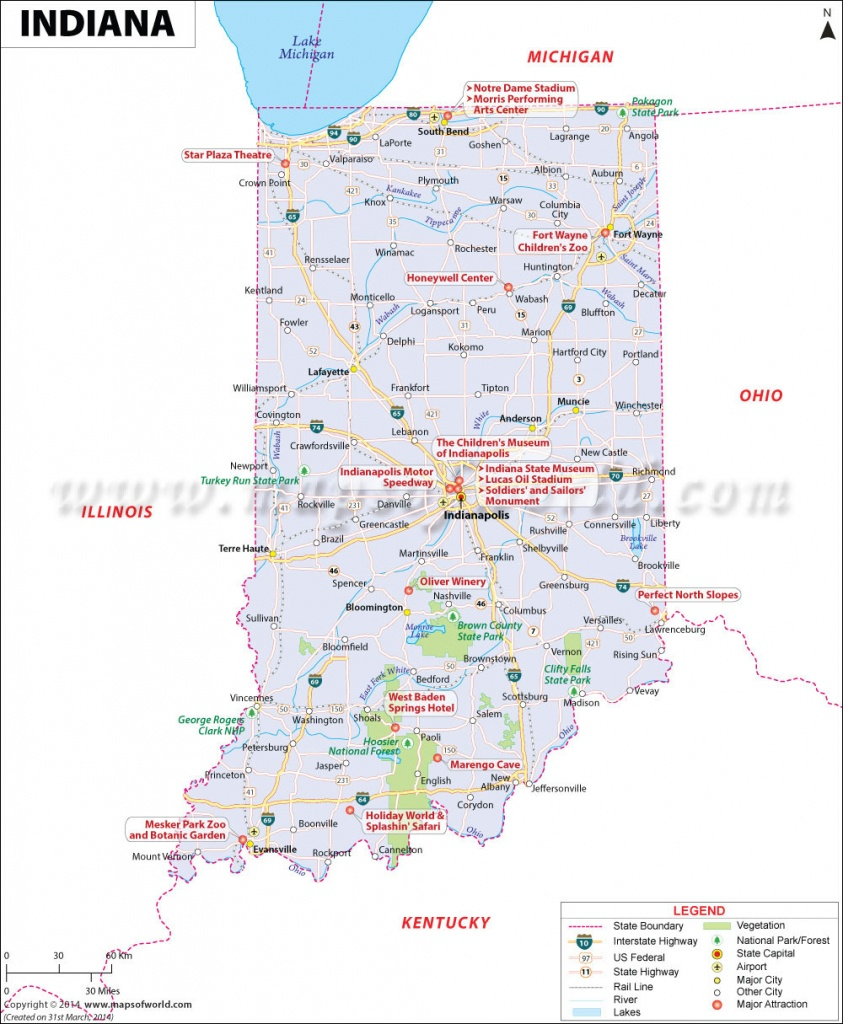 Buy Reference Map Of Indiana - Printable Map Of Indiana