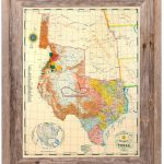 Buy Republic Of Texas Map 1845 Framed   Historical Maps And Flags   Republic Of Texas Map 1845